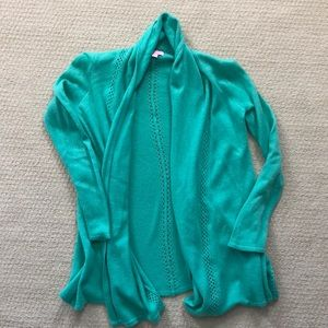 Lilly Pulitzer cashmere open cardigan